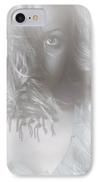 Mysterious Fine Art Fantasy Woman In Forest Mist Phone Case by Jorgo Photography - Wall Art Gallery