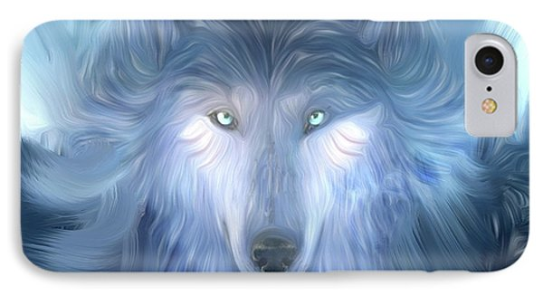 Mysterious Wolf Hand Painted Phone Case by Heinz G Mielke