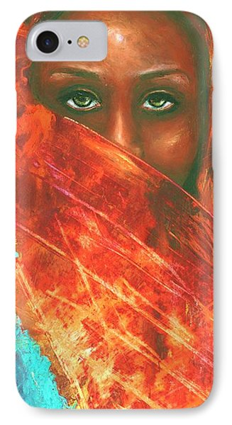 Mystery Behind The Veil IPhone Case by Alga Washington