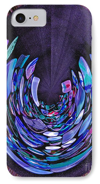 Mystery In Blue And Purple IPhone Case by Nareeta Martin