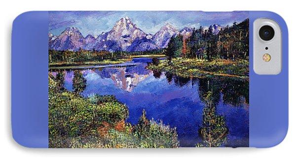 Mystery Lake IPhone Case by David Lloyd Glover