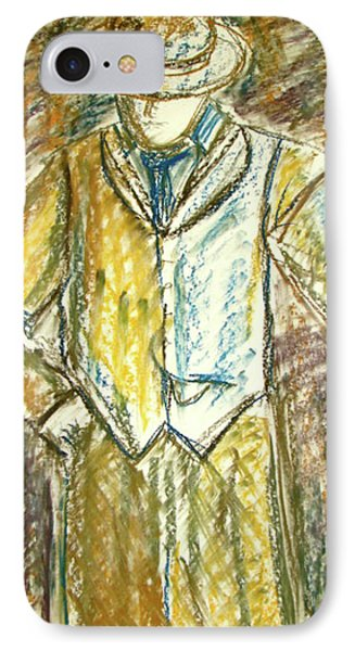 IPhone Case featuring the painting Mystery Man by Cathie Richardson