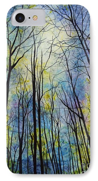 IPhone Case featuring the painting Mystic Forest by Hailey E Herrera