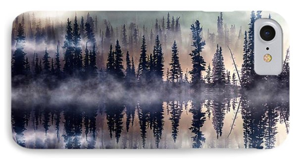 IPhone Case featuring the mixed media Mystic Lake by Gabriella Weninger - David