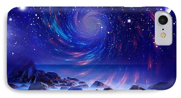 IPhone Case featuring the mixed media Mystic Lights by Gabriella Weninger - David