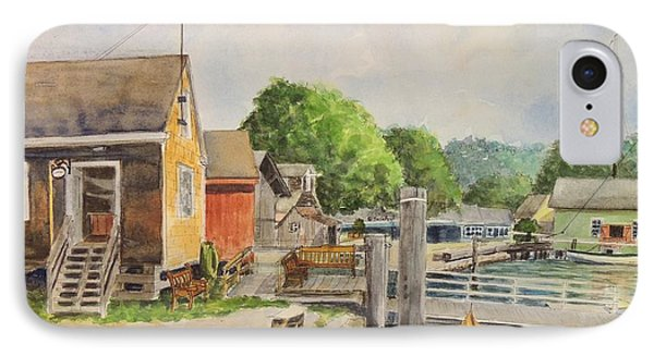 Mystic Seaport Boathouse IPhone Case by Patty Kay Hall