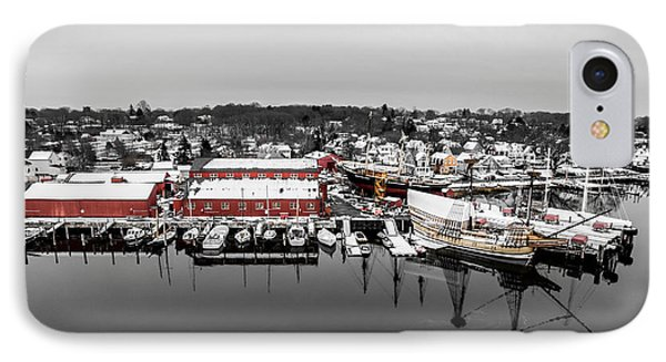 IPhone Case featuring the photograph Mystic Seaport In Winter by Petr Hejl