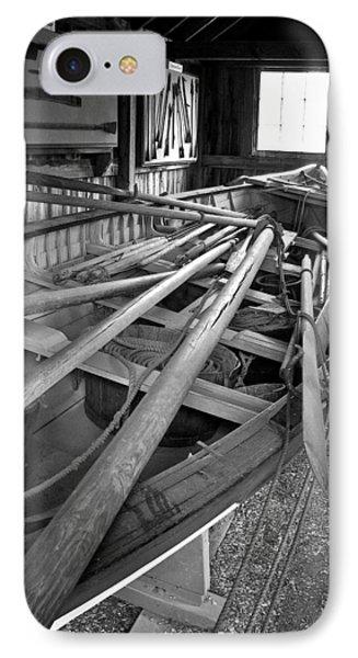 Mystic Seaport Whaling Boat IPhone Case by John Haldane