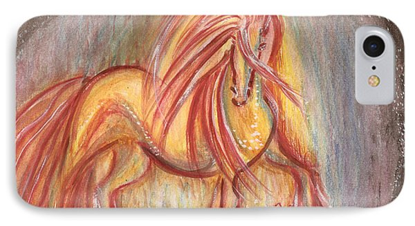 Dancing Abstract Horse Phone Case by Remy Francis