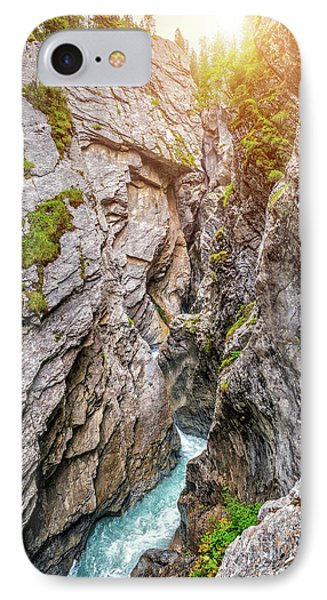 Mystical Gorge In Golden Light IPhone Case