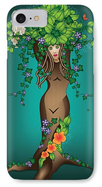Mystical Maiden Tree IPhone Case by Serena King
