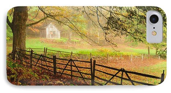 Mystique - A Connecticut Autumn Scenic IPhone Case by Thomas Schoeller
