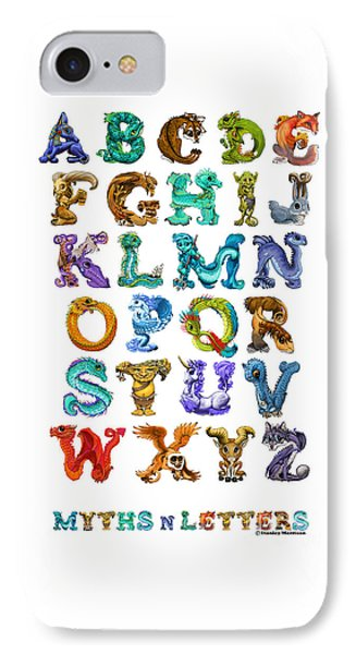 Myths N Letters IPhone Case by Stanley Morrison