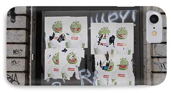 IPhone Case featuring the photograph N Y C Kermit by Rob Hans