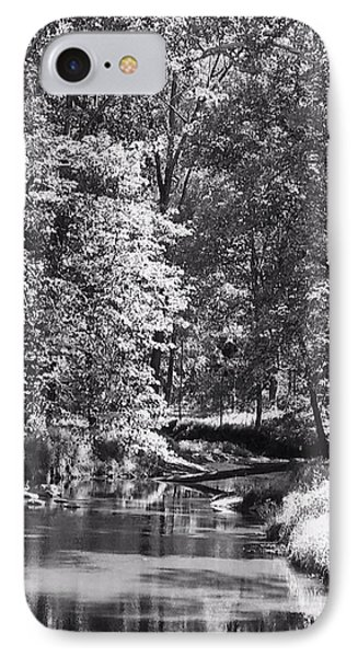 IPhone Case featuring the photograph Nadine's Creek In Black And White by Kathy Kelly