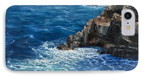 IPhone Case featuring the painting Nakalele Point Maui by Darice Machel McGuire