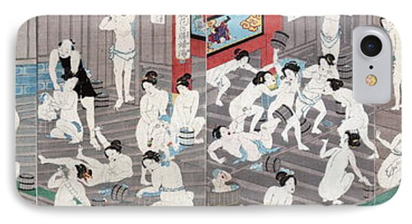 Naked Bodies IPhone Case by Toyohara Kunichika