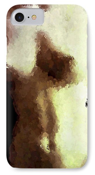 Naked Female Torso  IPhone Case by Joan Reese
