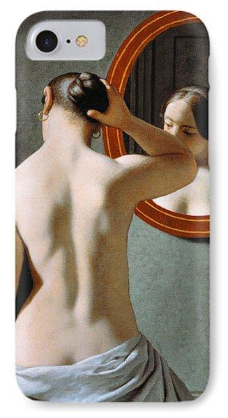 Naked In The Mirror IPhone Case by Johan Frederik Eckersberg