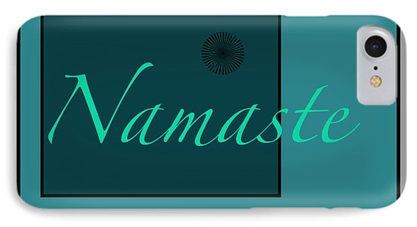 Namaste In Blue IPhone Case by Kandy Hurley