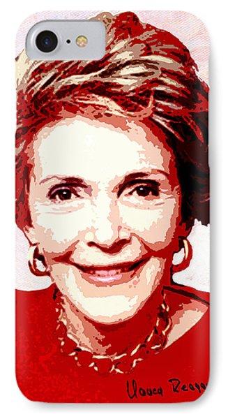 Nancy Reagan Portrait IPhone Case by Linda Mears