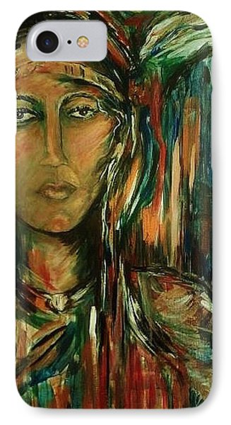 IPhone Case featuring the painting Nancy Ward Beloved Woman Nanye by Dawn Fisher