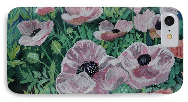 IPhone Case featuring the painting Nancy's Poppies by Robin Maria Pedrero