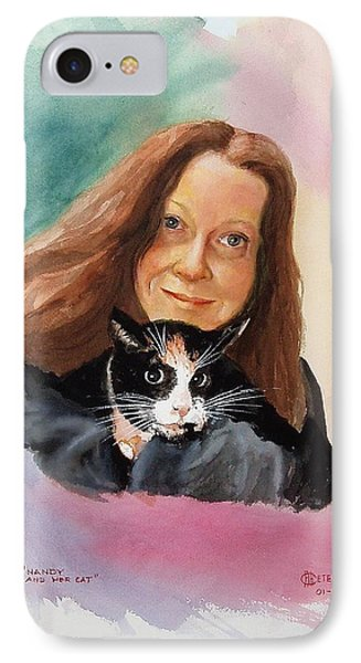 Nandi And Her Cat Phone Case by Charles Hetenyi