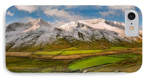 Nant Ffrancon Winter Panorama IPhone Case