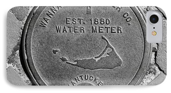 Nantucket Water Meter Cover IPhone Case by Charles Harden