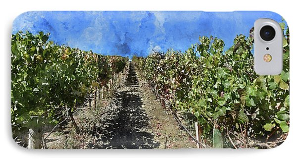 Napa Valley Vineyard Rows IPhone Case by Brandon Bourdages
