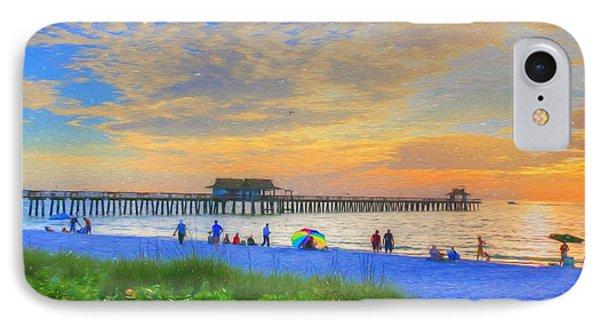IPhone Case featuring the digital art Naples Beach by Sharon Batdorf