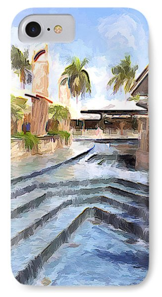 Naples Falls Shopping  IPhone Case by Rena Trepanier