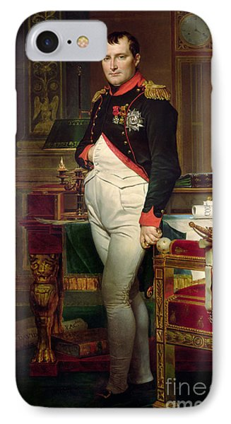 Napoleon Bonaparte In His Study At The Tuileries, 1812 IPhone Case by Jacques Louis David
