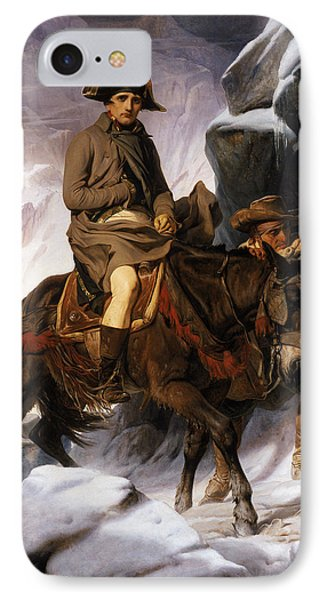 Napoleon Crossing The Alps IPhone Case by Hippolyte Delaroche