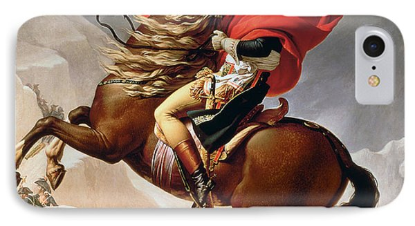 Napoleon Crossing The Alps IPhone Case by Jacques Louis David