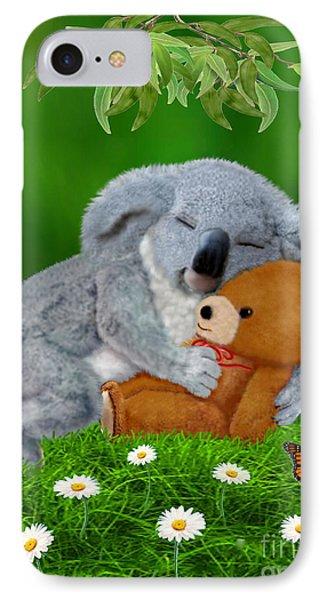 Naptime With Teddy Bear IPhone Case by Glenn Holbrook
