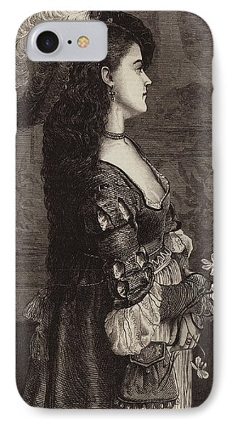 Narcissa IPhone Case by Gustave Jacquet