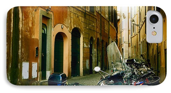 narrow streets in Rome IPhone Case by Joana Kruse