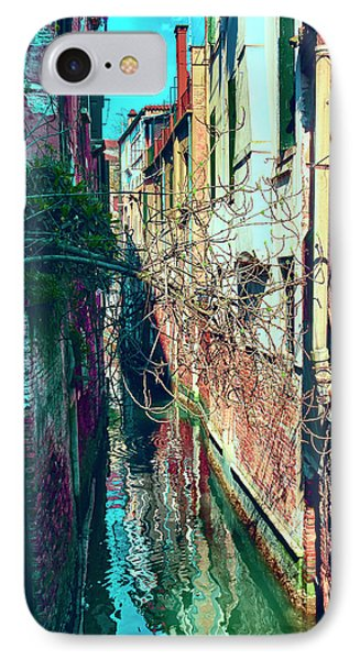 Narrow Water-street Of Medieval Venice IPhone Case