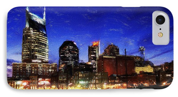 Nashville At Twilight Phone Case by Dean Wittle