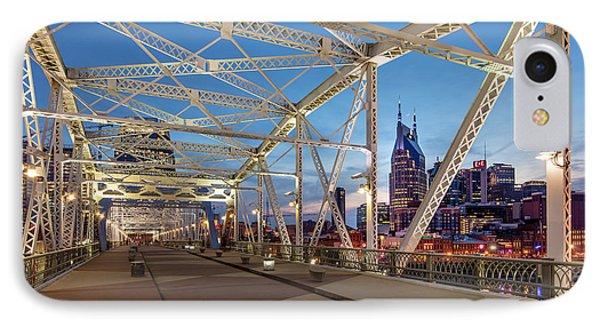 IPhone Case featuring the photograph Nashville Bridge by Brian Jannsen