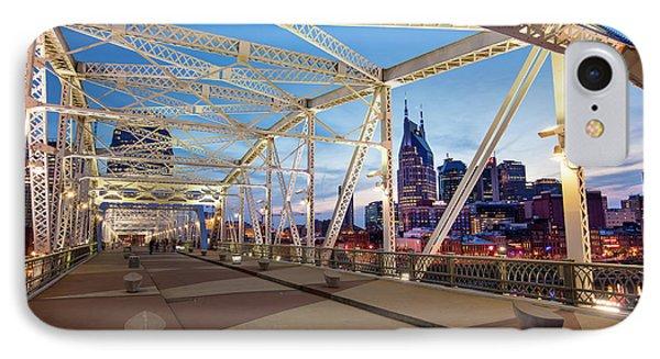 IPhone Case featuring the photograph Nashville Bridge II by Brian Jannsen