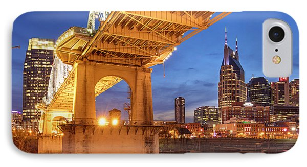 IPhone Case featuring the photograph Nashville Bridge IIi by Brian Jannsen