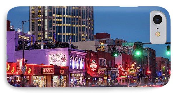 IPhone Case featuring the photograph Nashville - Broadway Street by Brian Jannsen