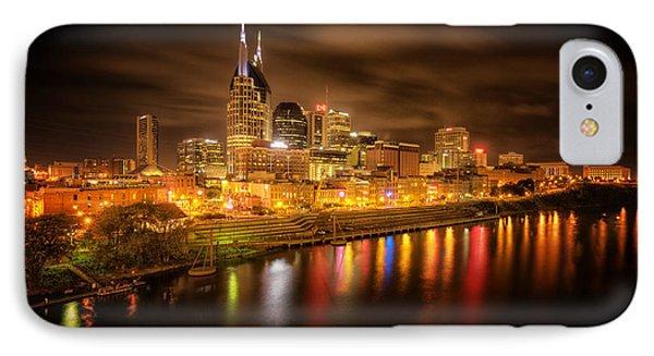Nashville City Lights Phone Case by Stuart Deacon
