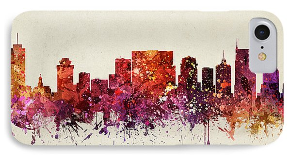 Nashville Cityscape 09 IPhone Case by Aged Pixel
