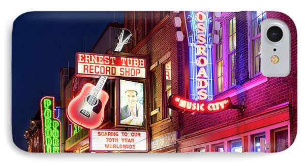 IPhone Case featuring the photograph Nashville Signs by Brian Jannsen