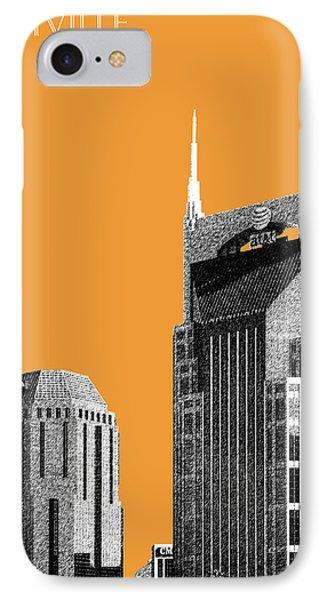 Nashville Skyline At And T Batman Building - Orange IPhone 7 Case