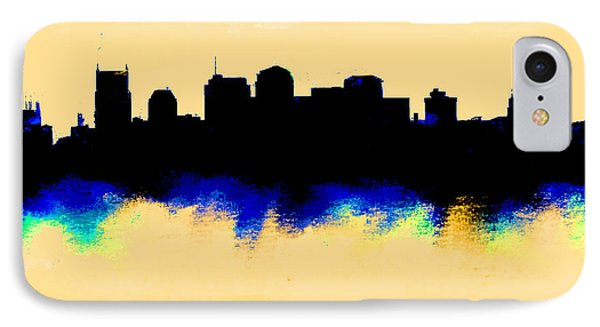 Ben Affleck iPhone 7 Case - Nashville  Skyline  by Enki Art